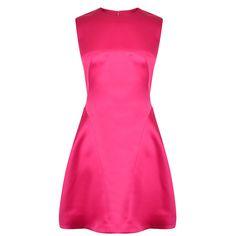 MCQ ALEXANDER MCQUEEN Satin A Line Dress - £630 651218