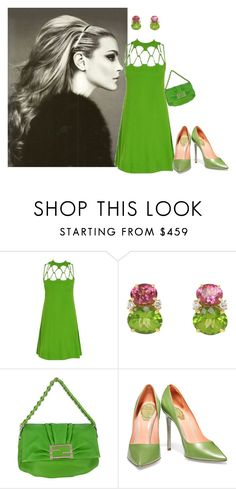 """Green Outfit - Vintage"" by shistyle on Polyvore featuring ASOS, Fendi, René Caovilla, vintage, GREEN and vintagefashion"