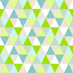 Vliestapete 'Triangle' apfelgrün/türkis/beige