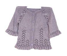 Lilac knit baby dress baby dress silvery lilac от KnittingAndYarns