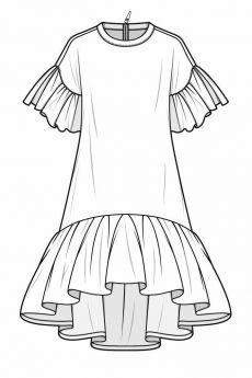Fashion design sketches 804807395890804545 - fashion flats Source by sewingfromatoz Fashion Sketchbook, Art Sketchbook, Fashion Design Drawings, Fashion Sketches, Dress Sketches, Drawing Fashion, Flat Sketches, Fashion Design Template, Pattern Fashion