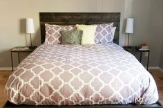 diy headboard for under 50, bedroom ideas, furniture furniture revivals, rustic furniture, The headboard helps bring a focal point to the bedroom