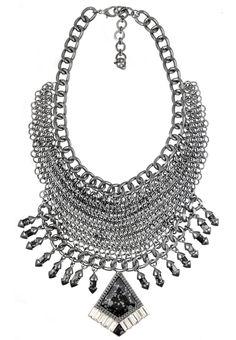 Veda Bib Necklace Her Smile, Muse, Romance, Dark, Diamond, Collection, Jewelry, Jewellery Making, Romances