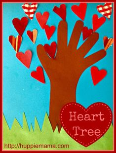 Heart Tree Craft - great for valentines day class activity