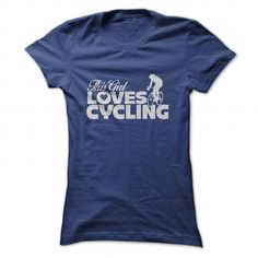 This Girl Loves Cycling - #pink hoodie #sweater pattern. LIMITED TIME => https://www.sunfrog.com/Sports/This-Girl-Loves-Cycling-NavyBlue-Ladies.html?68278