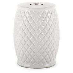 Check out this item at One Kings Lane! Trina Garden Stool, White