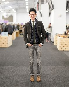 street style: PLAID JACKET | At Capsule New York Fall 2014 | GQ.com