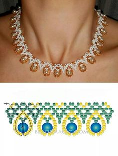 Are you enthusiastic about hand crafted DIY jewelry? Have you contemplated figuring out how to create these designs for yourself? Discover the various techniques needed to design rings, necklaces and more for yourself and to share if you wish. Beaded Necklace Patterns, Beading Patterns, Beaded Earrings, Beaded Bracelets, Necklaces, Bead Jewellery, Seed Bead Jewelry, Jewelry Making Beads, Homemade Jewelry