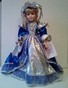 NEW COLLECTIBLE MEMORIES PORCELAIN DOLL--HILLARY