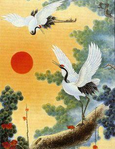 asian art, crane - Google Search