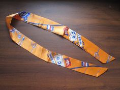 Orange Silk TwillySilk Handbag TieSilk Scarf100% by SummerMatcha