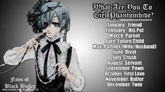 what are you to Ciel? | via We Heart It - i'm his twin, how bout you?