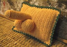Crocheted penis pillow