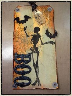 10/7/2008; Tim Holtz on his blog; Tag with photo tutorial