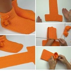 Free Knitting Pattern for Two Needle Socks Crochet Slipper Pattern, Crochet Fox, Knitted Slippers, Crochet Slippers, Easy Crochet, Knitting Patterns Free, Free Knitting, Knitting Socks, Crochet Patterns