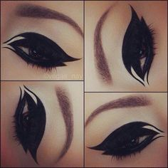 Black eyeshadow Make up tips ❤ liked on Polyvore featuring beauty products, makeup, eye makeup, eyes and beauty