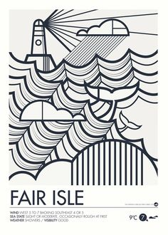 TED'S INSPIRATION | British Isles:  Shipping Forecast Prints - Fair Isle