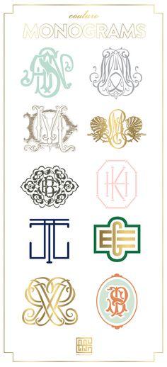 wedding monogram design, idea, monogram styles, couture, coutur monogram, monograms, emily mccarthy, fonts monogram, emili mccarthi