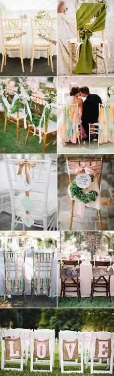 30 Creative Chair Decor Ideas for Spring Weddings - creative