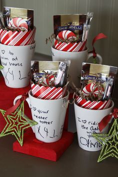 Diy Christmas Gifts For Coworkers For Kids 43 Best Ideas - Diy Gift For Girls Ideen Diy Christmas Gifts For Coworkers, Inexpensive Christmas Gifts, Homemade Christmas Gifts, Christmas Mugs, Great Christmas Gifts, Christmas Design, Gifts In A Mug, Kids Christmas, Homemade Gifts