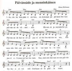 Finlandia Hymni Nuotit