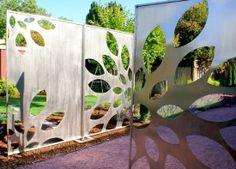 creative backyard ideas and metal yard decorations