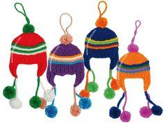 chullos peruanos para colgar del árbol de navidad c8c1d5f91f3