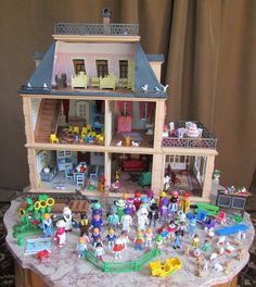 5300 Playmobil Victorian Mansion Dollhouse lot 38 people loaded furniture animal #PLAYMOBIL
