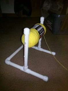 Yarn Holder Hacks Every Knitter Loves to Know - PVC Yarn Holder Source by wow. Yarn Holder Hacks Every Knitter Loves to Know – PVC Yarn Holder Source by wowthumbsup kni Pvc Pipe Crafts, Pvc Pipe Projects, Yarn Projects, Knitting Projects, Crochet Projects, Knitting Ideas, Lathe Projects, Knitting Patterns, Knitting Supplies