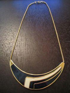 monet art deco statement necklace