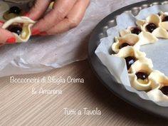 Bocconcini di sfoglia Crema & Amarene - ricetta semplice e veloce - TUTTI A TAVOLA - YouTube