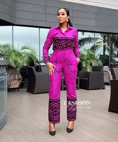 ankara stil The best Ankara jumpsuit for the working class classic ladies, for the year African Fashion Ankara, Latest African Fashion Dresses, African Print Dresses, African Print Fashion, African Dress, African Clothes, African Jumpsuit, Ankara Jumpsuit, Ankara Dress