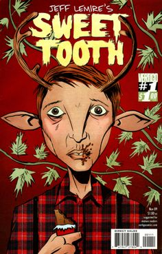 Jeff Lemire's Sweet Tooth. Think Bambi meets Mad Max. But done in the Vertigo style and not cheesy. Great comics.