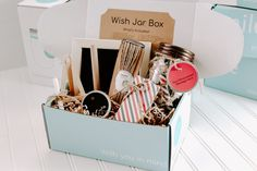 Wish Jar Box Kit - Patriotic Deployment Party, Christmas Delivery, All Holidays, Chalkboard Signs, Coordinating Colors, The Perfect Touch, Hang Tags, Diy Room Decor, Diy Gifts