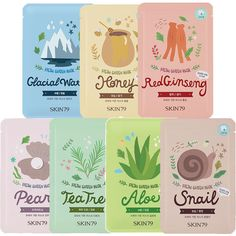 SKIN79 Fresh Garden Mask Sheet 23g * 3 Pcs - Strawberrycoco