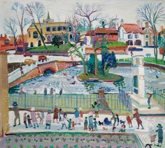 thorsteinulf:  Fred Yates - Carshalton Ponds, Carshalton, Surrey (c.1990)