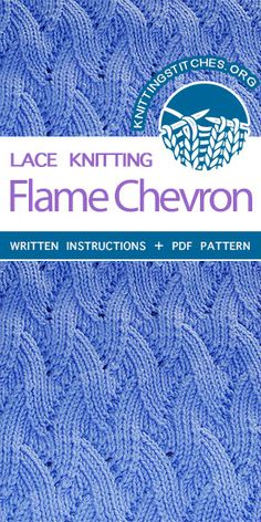 Beautiful knitting stitches. Stockinette Chevron Knitting. The stitch would be great for garments, blankets and bags!