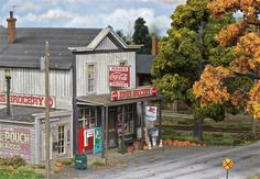 Model Train Scenery | Atlas Model Railroad Co. - Added details to structures and scenery.