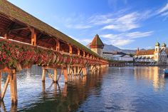 With its bridges, turreted buildings, and picturesque Old Town, Lucerne is storybook Swiss. Nestled on the shores of Lake Lucerne, the city is… Most Beautiful Cities, Beautiful World, Amazing Places, Places Around The World, Around The Worlds, Art Et Architecture, Beaux Villages, Belle Villa, Seen