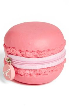 PIQ Products Strawberry Macaron Coin purse. This is so unexpected, I would buy it for that reason