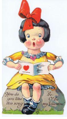 Charles-Twelvetrees-Vintage-Valentine-Card-Singing-Girl-Made-in-Saxony