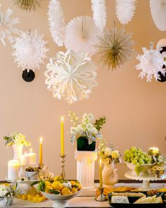2016 Christmas Their Own Homes Decorations Ideas NO COLORS ARE OFF LIMITS. Our own editor-in-chief Sophie Donelson borrowed inspiration from the White House's Christmas decorator Bryan Rafenelli. Her holiday table relies on paper snowflakes and lemony accents to stand out.-----------Click Amazon promo codes 20 off anything
