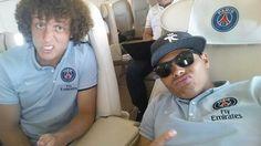 Grimaces de Thiago Silva et David Luiz (photo) - http://www.actusports.fr/115425/grimaces-thiago-silva-david-luiz-photo/