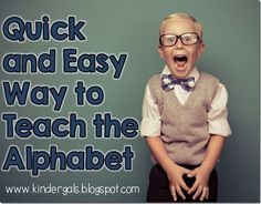 Quick and easy idea for differentiating alphabet instruction!