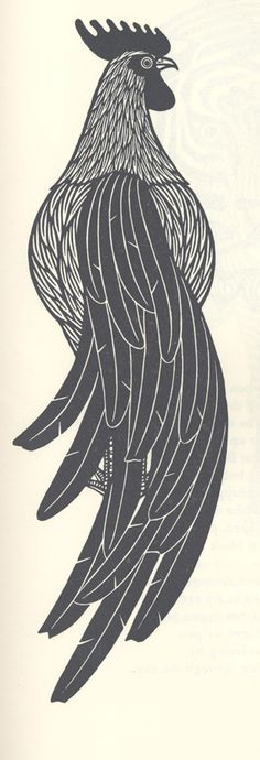 "From ""Birds and Beasts""; woodcut by Jacques Hnizdovsky"