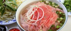 'Pho' is a delicious bowl of noodle soup and an extremely popular dish in Vietnam #travel #Vietnam