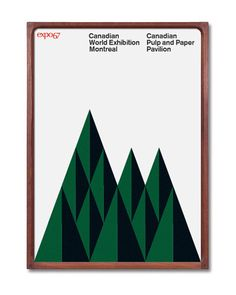 Canada Expo 67 Mid Century Modern Poster  /// FREE by BoldModern, $125.00