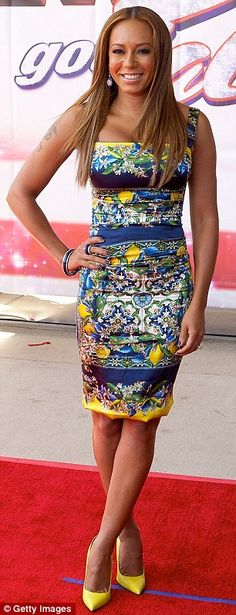 Mel B dazzled + dress