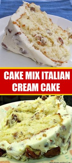Don't Lose this Recipe by forgetting to hit the Save Button! Don't Lose this Recipe by forgetting to hit the Save Button! Köstliche Desserts, Delicious Desserts, Dessert Recipes, Cake Mix Recipes, Baking Recipes, Cake Mixes, Italian Cream Cakes, Italian Cake, Just Cakes