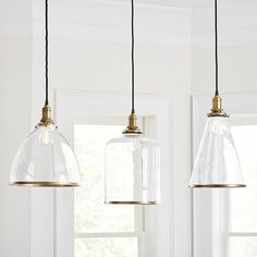 Looking for the perfect Franklin Hanging Glass Pendant Lights to brighten your home life? Shop Ballard Designs today for lively new light fixtures. Add the Franklin Hanging Glass Pendant Lights to illuminate your style! Hanging Light Fixtures, Kitchen Lighting Fixtures, Kitchen Pendant Lighting, Kitchen Pendants, Glass Pendant Light, Glass Pendants, Hanging Kitchen Lights, Island Pendants, Over Island Pendant Lights